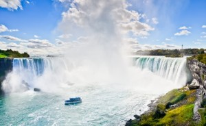 Canadian Horseshoe Falls in spring