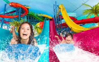 Fallsview Indoor Waterpark Racing Slides